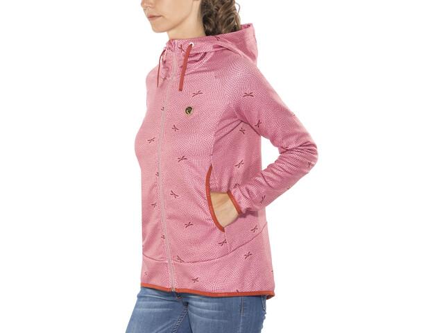 Maloja AmaliaM. Hooded Fleece Jacket Women cherry blossom